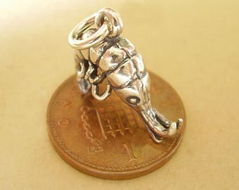 Sterling Silver Shrimp Prawn Charm