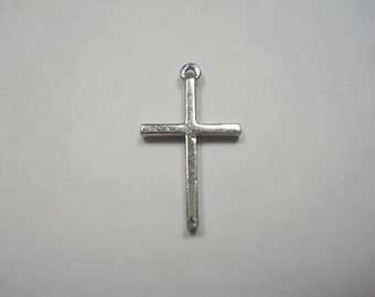 Tiny Cross Sterling Silver Charm