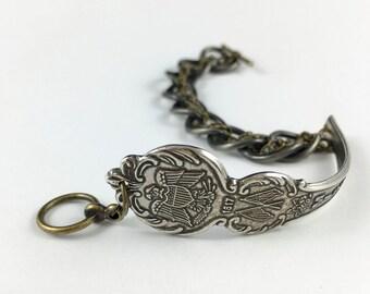 Mississippi Bracelet, Mississippi Jewelry, Spoon Bracelet, Mississippi Gift, Mississippi Seal, Wife Gift, Mississippi Souvenir