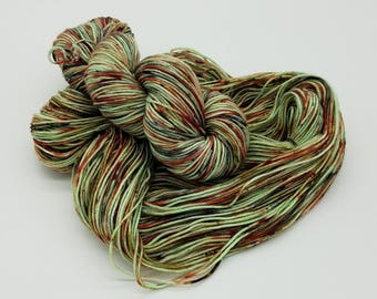 Hand Dyed Superwash Merino Wool Nylon DKYarn - Zombie, indie dyed yarn, dyed DK yarn, yarn, self striping yarn