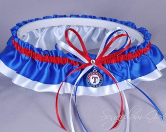 Texas Rangers Wedding Garter