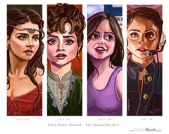Doctor Who: Clara Oswin Oswald, The Impossible Girl Quadriptych
