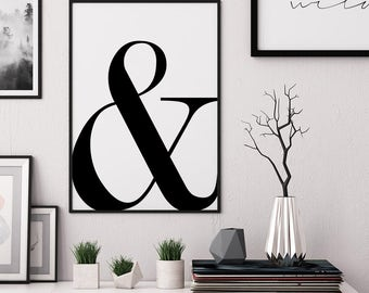Ampersand print, affiche scandinave, typography print, scandanavian print, Ampersand poster, typography poster, minimalist print, ampersand