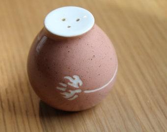 Russel Wright Harkerware Clover (Coral) Salt or Pepper Shaker