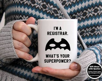 Registrar Gifts, What's Your Superpower Mug, Registrar Mug, Thank You Gift, Registrar Office Gift, Registrar Office Decor, Appreciation Gift