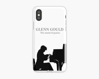 Glenn Gould, funda para iPhone X, 8, 8 Plus, 7, 7 Plus, Iphone 6, 6s, 6 Plus, 6s Plus, 5/5s/SE, 5c, 4, 4s, piano, funda iphone, pianista