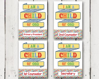"2018 Primary Theme Binder Covers ""I am a Child of God"""