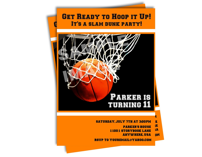 Basketball Invitation Sports Invitation All Star Party