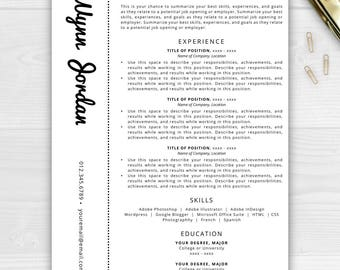 Creative Resume Template Resume for Word Pages Resume