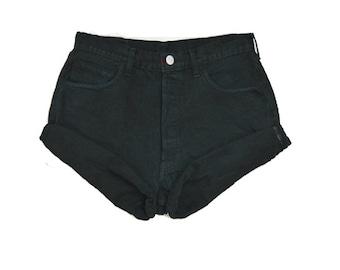 SALE - Black High Waisted Shorts