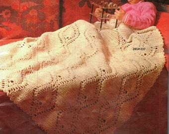 Crochet Afghan Pattern, Pineapple Motif Crochet Afghan Pattern, Traditional Decor Idea,  PDF INSTANT Download Pattern (1034)