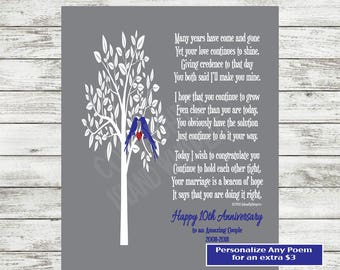 10th Anniversary Gift, Anniversary Poem, 10th Anniversary Print, Gift for Couple, Tin Anniversary Printable, INSTANT DOWNLOAD