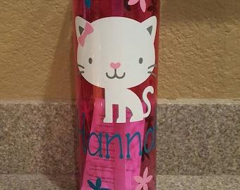 Personalized cat water bottle
