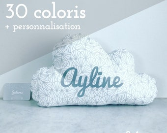 Cushion cloud with name - size M - 30 colors to choose from-birthday gift personalized