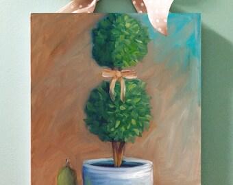 Kitchen Topiary, oil painting,still life, kitchen art, country art, farmhouse style
