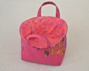 Pink Passion Leaf Mini Bag