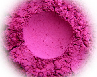 5g Mineral Eye Shadow - Fuchsia - Vivid Pink With Sparkle