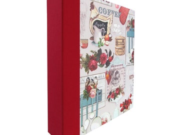 Recipe folder A4-kitchen vintage, country style