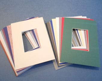 ACEO Photo Mats 5x7 with ACEO size window opening Assorted Colors Quantity (50)