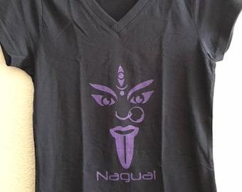 Nagual women cotton t-shirt, screenprint, xs size