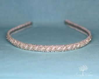 Pearl Beaded Hard Headband - Pearl Headband - Wedding Headband - Hard Headband - Bridal Headband - Prom Headband - Headpiece - Accessory
