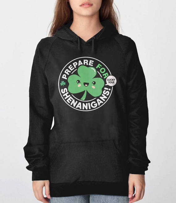Lucky Sweatshirt, St Patricks Day hoodie, shamrock hoodie, saint patrick's sweatshirt, lucky sweater, st pattys day 4 leaf clover t shirt