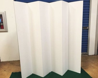 """Balcony or Patio Privacy Screen Room Divider Home Office  65"""" Tall 6 Panel"""