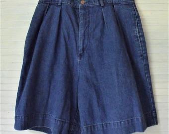 Hi-Waist Denim Shorts/ Women's Retro Shorts/ Vintage Denim/ Funky Retro Shorts/ Thrifted Denim/ Summer Funwear