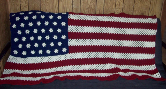 American Flag Afghan Stars And Stripes Made To Order