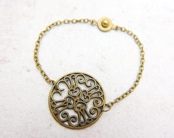 Flower bracelet, flower jewelry