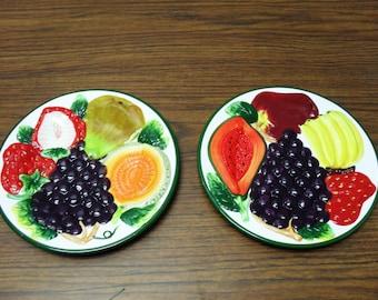 KMC Fruit 3-D Ceramic Plates