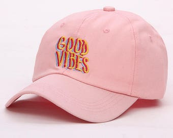 Limited edition Pink good vibes hat