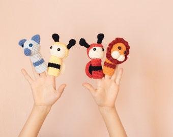 Organic cotton finger puppet set