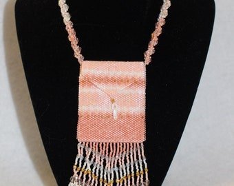 Hand Beaded Amulet Bag Necklace
