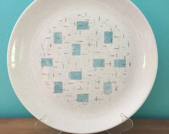 Vintage Atomic Mid Century Modern Charger Serving Platter Heavenly Days by Vernon Ware