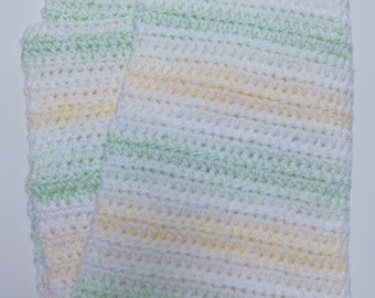 Yellow Green Baby Blanket, yellow green crochet baby blanket, Gender neutral baby blanket, yellow baby shower, lemon lime baby blanket
