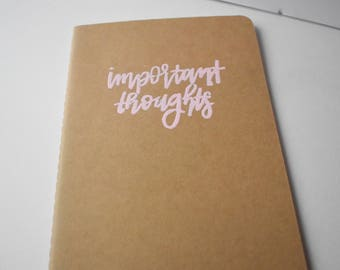 important thoughts kraft brown journal