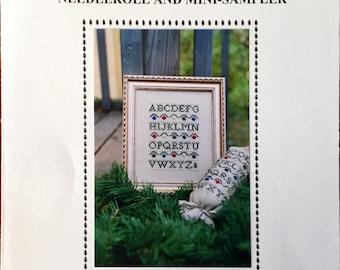 "Cross Stitch Pattern, Needleroll and Mini-Sampler, ""Deck the Halls"""