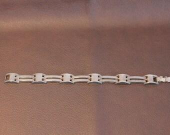 Vintage Sterling Link Bracelt
