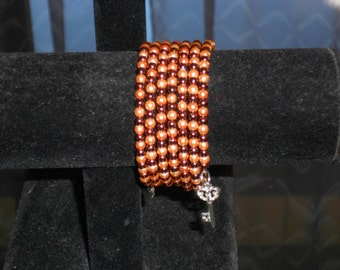Memory bracelet Brown and copper