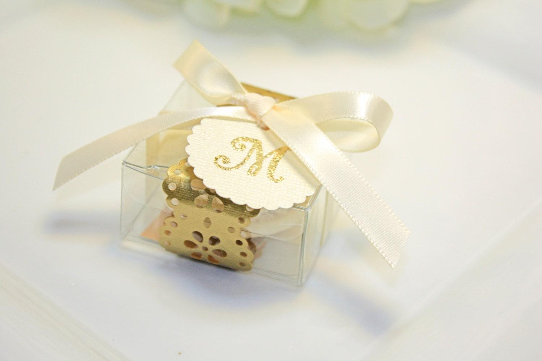 Golden Doily Favor box Gold Macaron Favor Box 30 Gold Favor