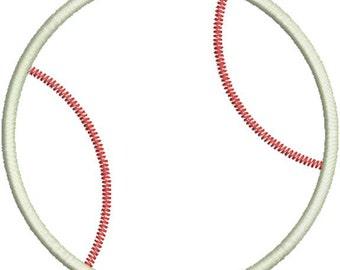 Baseball Applique Machine Embroidery Designs 4x4 & 5x7 Instant Download Sale