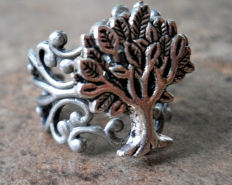 Tree of Life Ring in Silver EXCLUSIVE DESIGN