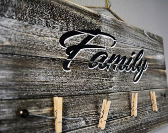 Family Clothesline Photo Display