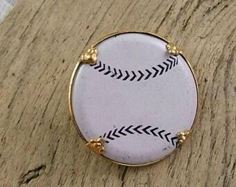 Vintage Enamel Baseball Pin