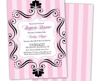 Bachelorette Party / Lingerie Shower Printable Invitation