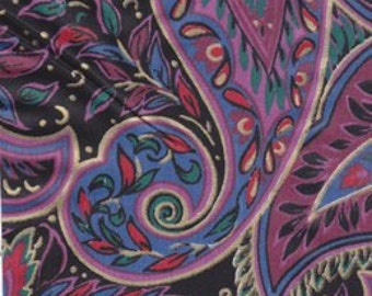 Bold Paisley Print 7 1/2 Ins Wide by 5 Yds Long Strip Quilt Piecing ~ Sewing ~ Binding ~ Vintage Interior Designer Yardage