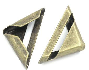 set of 12 corners angles in metal bronze 23mm for book or album, card, menu protection...