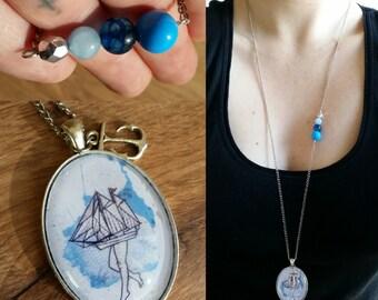 """Necklace """"Maman les petits bateaux"""""""