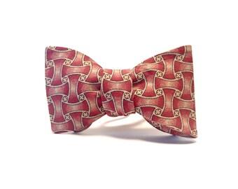 Woven Geometric Pattern bow tie